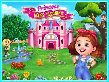 Princess House Cleaning game design and developing