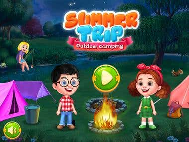 Cover art Summer Trip Outdoor Camping game developing