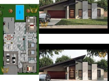 Residential front Facade