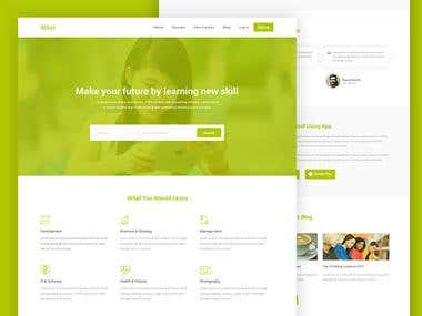 e Learning Website design