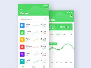 Cryptocurrency App Ui