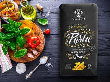 Organic pasta packaging design