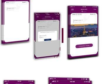 UI for Travel Agency App