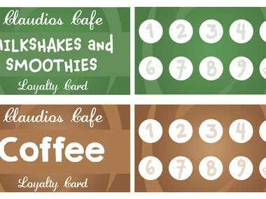 Claudio's Cafe Loyalty Cards