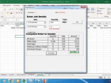 VBA Form to capture user req & generate the work order