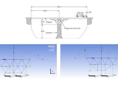 Truss Bridge Design and Finite Element Analysis