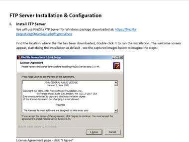 Document for building FTP Server