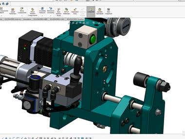 Winding Machine design with Solidworks