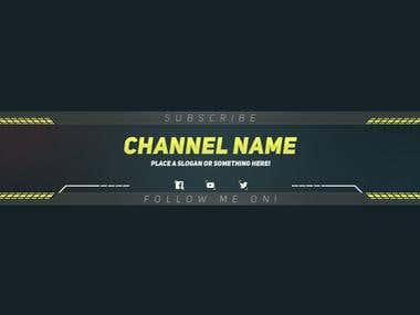 PREMIUM Youtube BANNER Templet