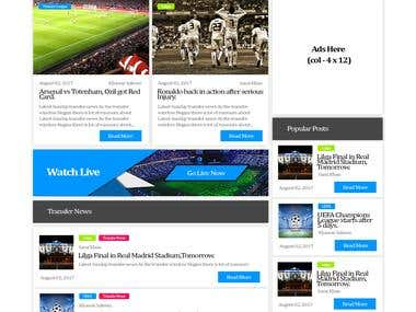 Sports Website UI/UX Design