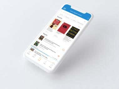 Library App UI Design