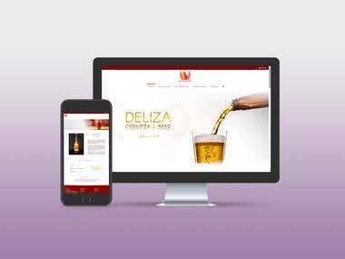 Web design DELIZA FOODS