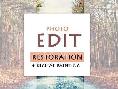 PHOTO RESTORATION + DIGITAL PAINTING