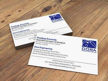 Business card for quantity surveyor