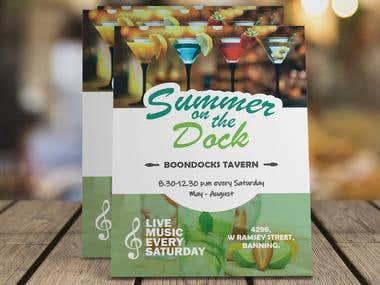 Flyer for Beach Bar