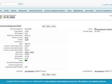 Salesforce - Inventory Project