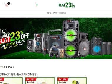 eCommerce Website UI/UX design and online store development