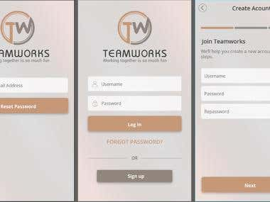 Mobile APP - TeamWorkZ (Working together is so much fun)
