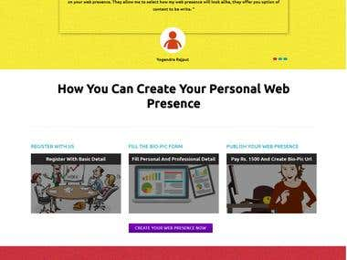 Automatic Personal Website Creation Web Application