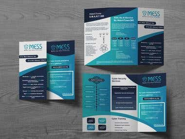 trifold-brochure for MESS cyber security