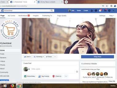 """Facebook Management """"Mybestdeal"""""""