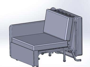 Folding mechanisms for furniture