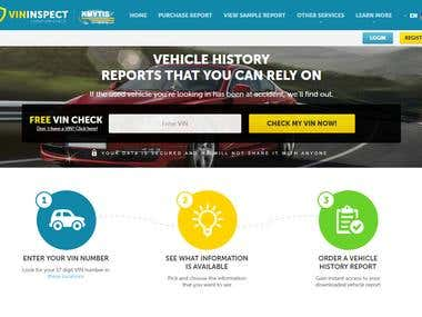 Vehicle History Generating Website