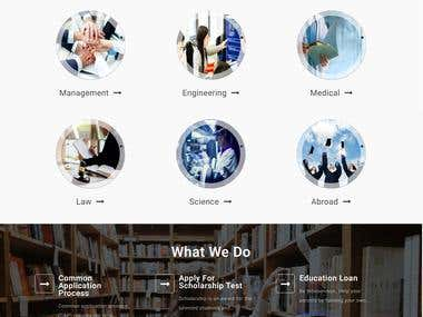 Fully Dynamic Admission Consultancy website