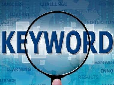 Keyword research for a client