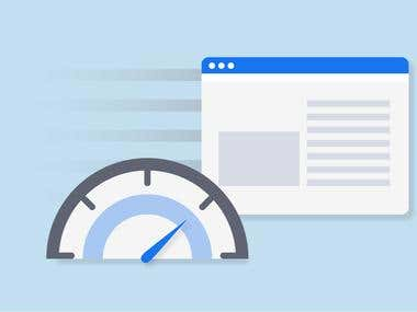 Speed optimization for a WordPress website and on-page SEO