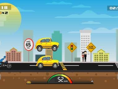 Game Screen - Taxi Rush