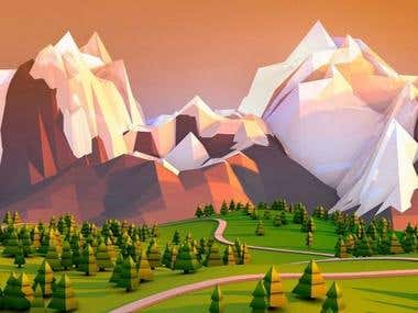 3D Low poly environment