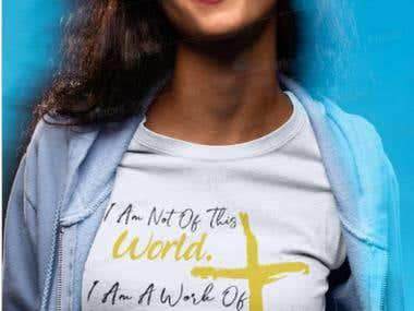 Christian Theme T-shirt Design.