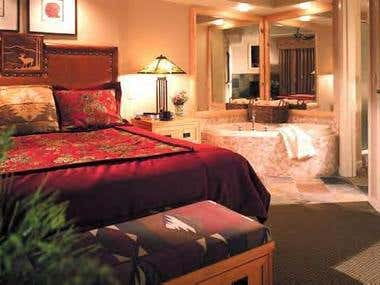 Master Bedroom at The Sheraton Mountain Vista
