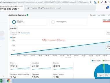 Improvement traffic of :- gdcollectionagency website via SEO