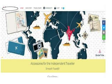 Travel website based on Wordpress and implemented WooCommerc