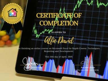 Microsoft Excel In Depth Certificate