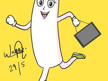 A Mascot character illustration.