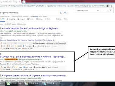 Top 2 Ranking in Google.com.au