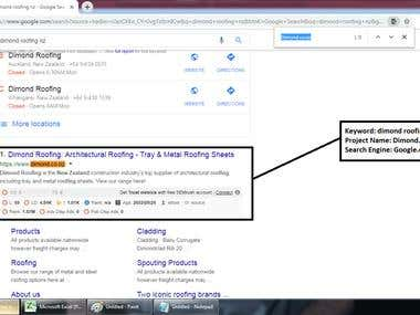 Top 1 Ranking in Google.com