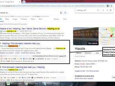 Top 1 Ranking in Google.co.uk