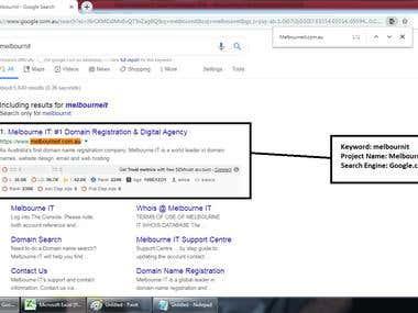 Top 1 Ranking in Google.com.au