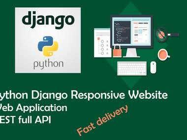 Developed REST API for a web site with Django