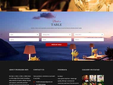 A RESTRAURANT ONLINE TABLE BOOKING SITE