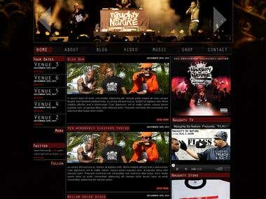 Naughty By Nature Musical Group web site