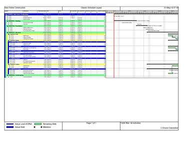 Planning & Schedule in Primavera P6