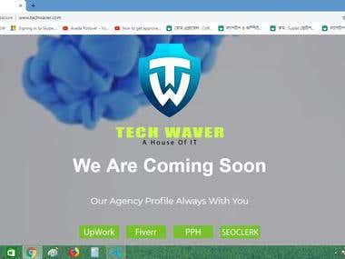 This is our coming soon website screenshot