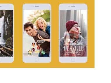 Snapchat ads Filter Design