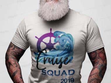 T-shirt Design & Mockup That I Made.