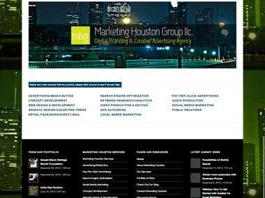 Marketing Houston Group - Wordpress Website